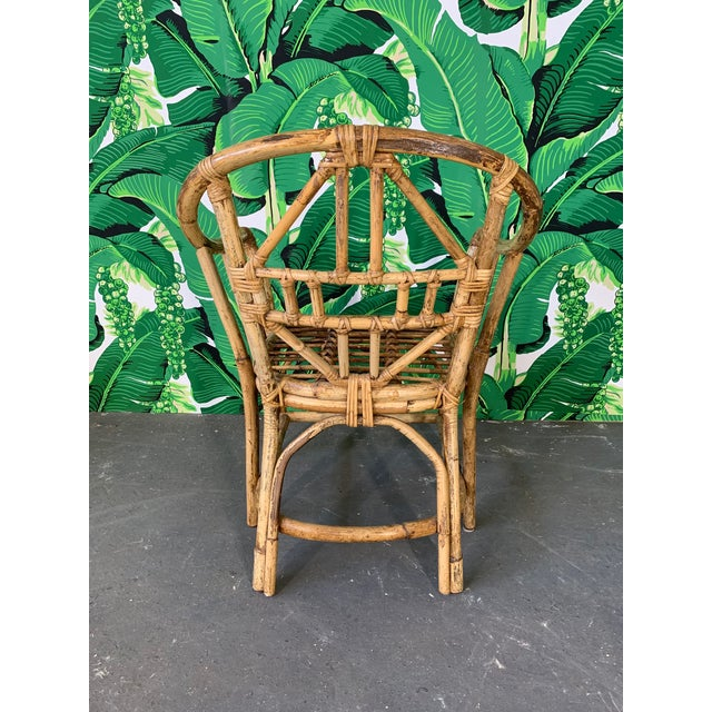 Brighton Style Pavilion Rattan Dining Chairs - Set of 6 For Sale In Jacksonville, FL - Image 6 of 9