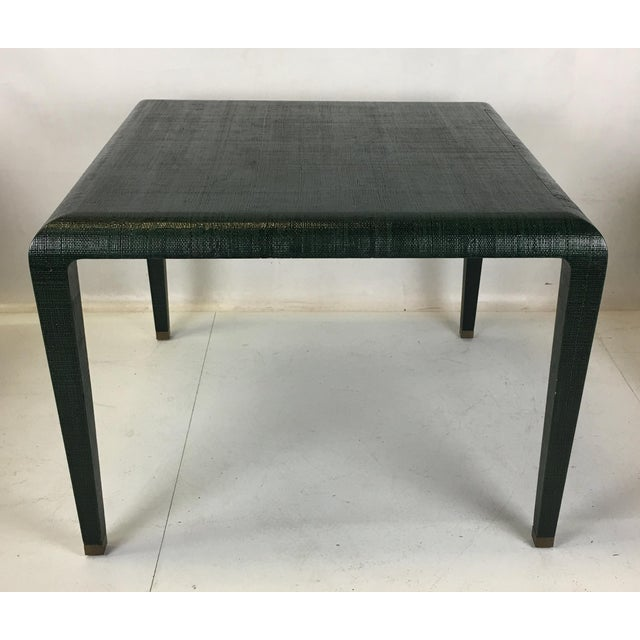 Harrison-Van Horn Exceptional Raffia Clad Games Table by Harrison Van Horn For Sale - Image 4 of 12