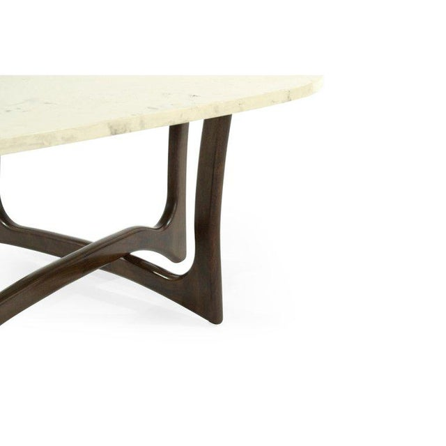 1950s 1950s Asymmetric Marble-Top Coffee Table by Adrian Pearsall For Sale - Image 5 of 10
