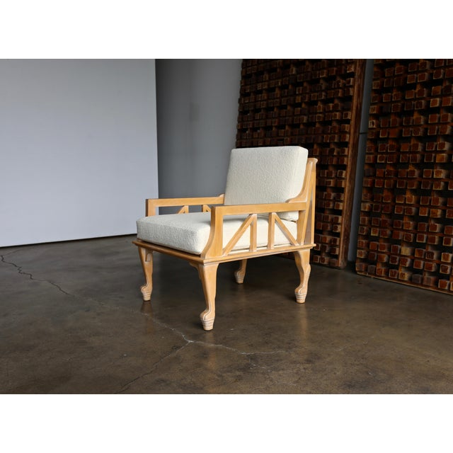 """Egyptian Revival John Hutton """"Thebes"""" Chair for Randolph & Hein Circa 1976 For Sale - Image 3 of 12"""