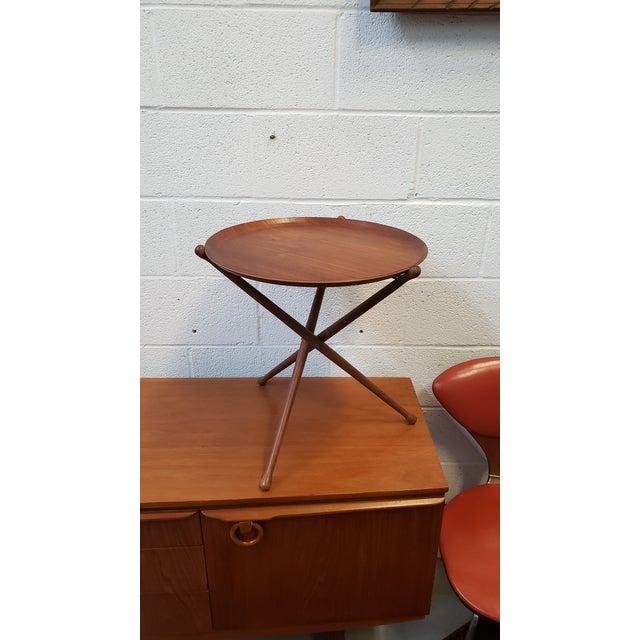 Nils Trautner for Nybro 1950s Swedish Ary Fanerprodukter Nybro Teak Tray Table For Sale - Image 4 of 8