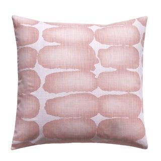 Blush Mid-Century Modern Shibori Accent Pillow For Sale