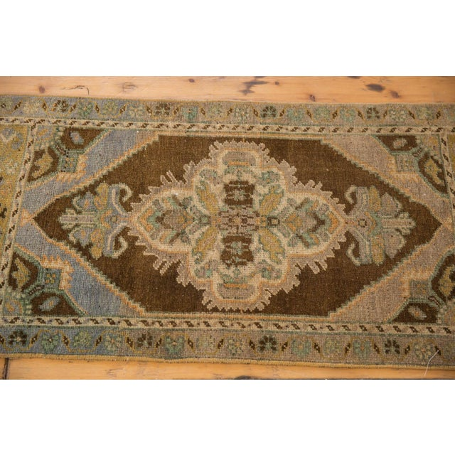 "Islamic Vintage Distressed Oushak Rug Mat Runner - 1'8"" X 3'6"" For Sale - Image 3 of 6"