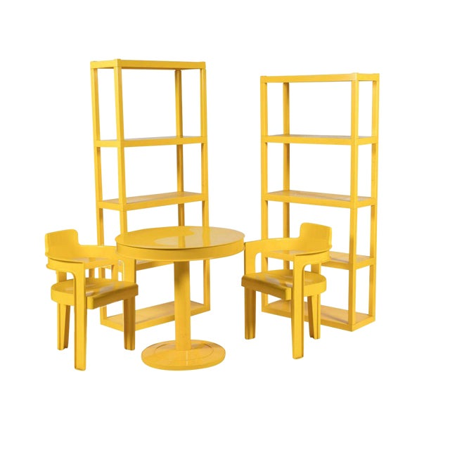 Syroco Mid Century Sunshine Dining Room Set - Set of 5 - Image 1 of 3