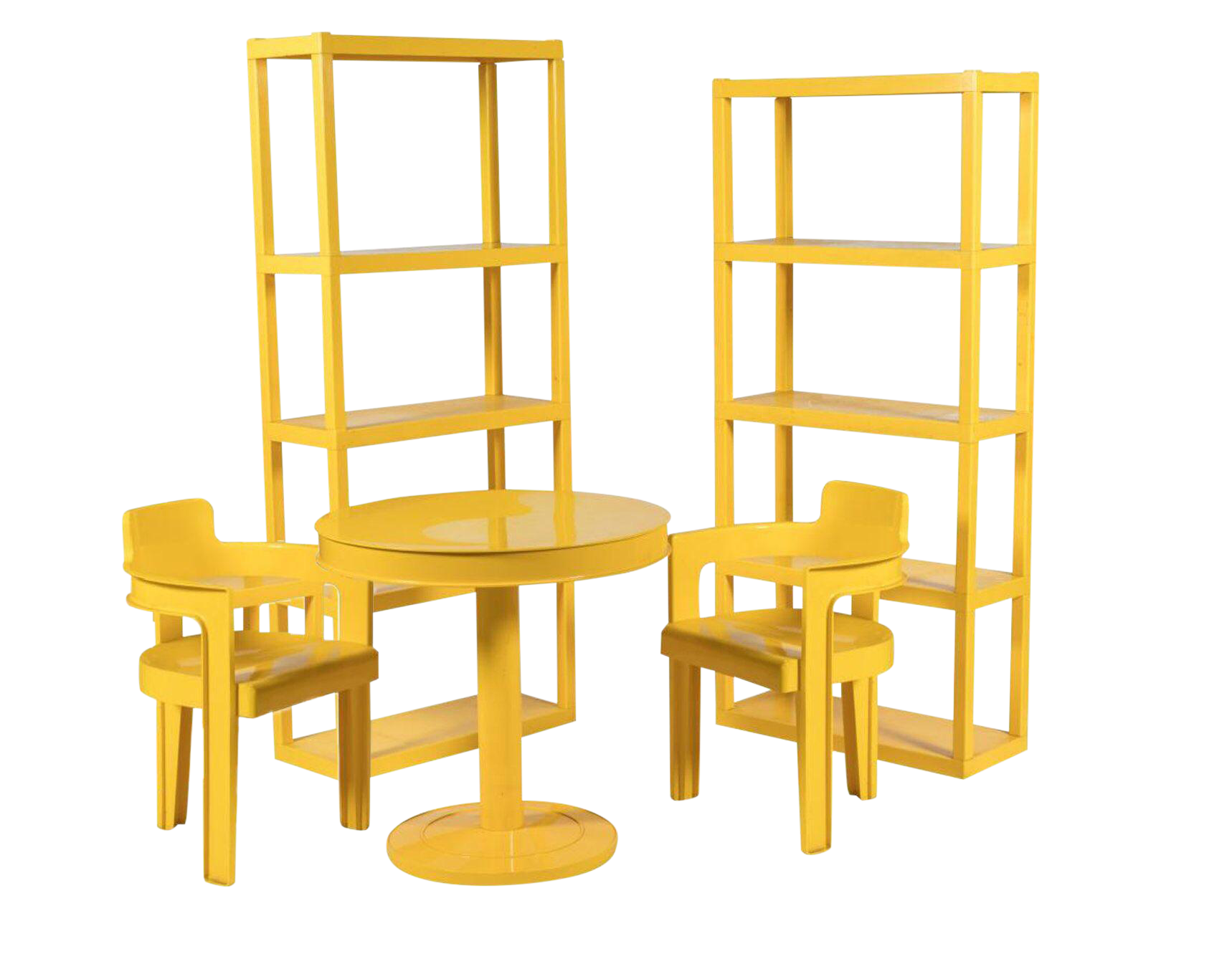 Syroco Mid Century Sunshine Dining Room Set   Set Of 5