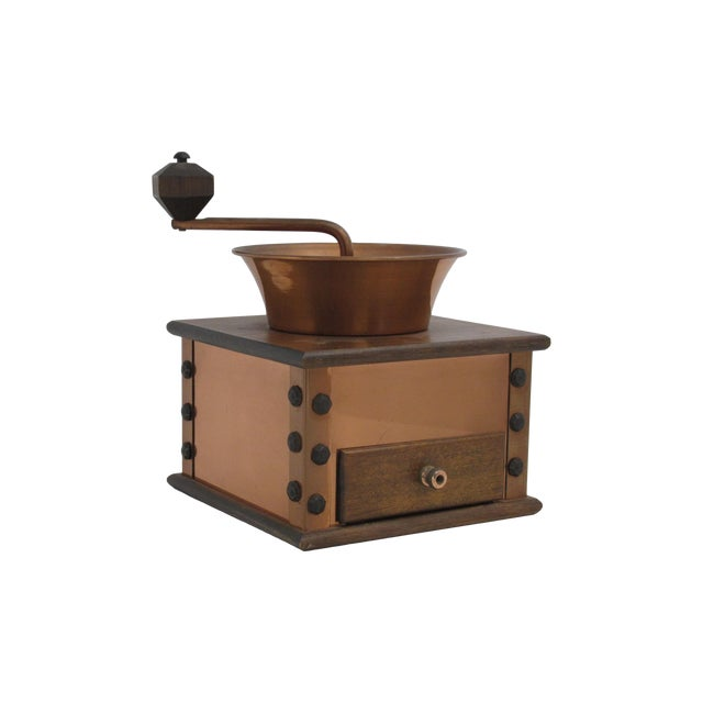 Copper and Walnut Coffee Grinder - Image 1 of 7