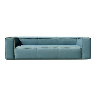 Modern Large Restoration Hardware Box Style Sofa and Chairs For Sale
