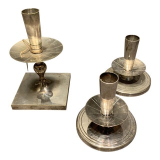 Mid 20th Century Tommi Parzinger Candleholders - Set of 3 For Sale