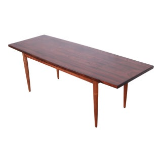 Danish Modern Rosewood Coffee Table, Newly Refinished For Sale