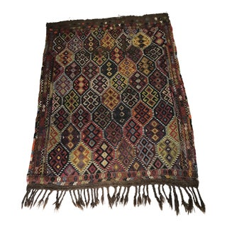 "Traditional Kilim Area Rug - 3'5"" x 5' For Sale"
