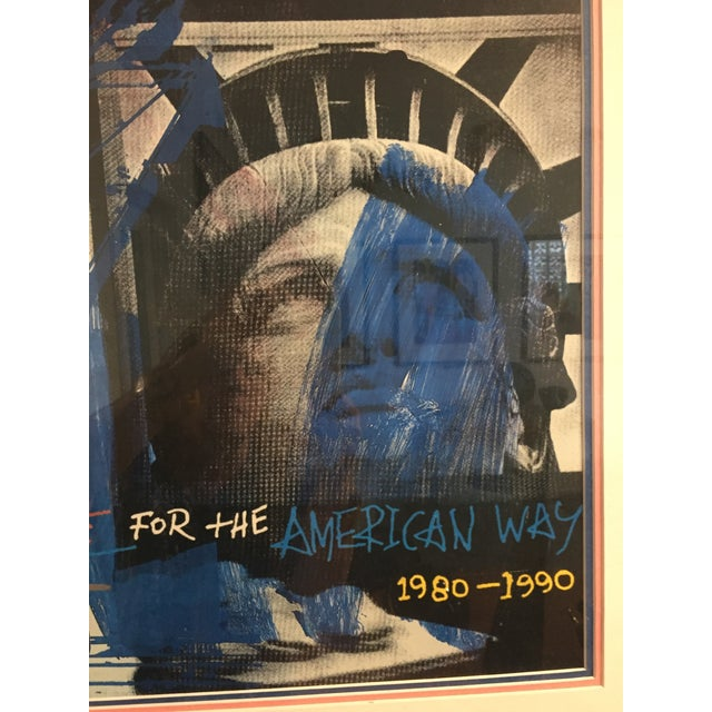 "Lithograph ""People for the American Way"" Rauschenberg Signed Print For Sale - Image 7 of 11"