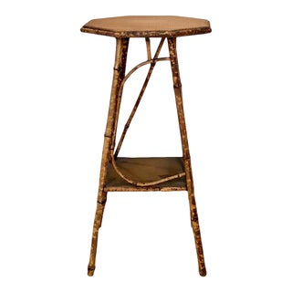 1880 English Bamboo Plant Stand For Sale