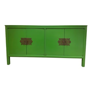 Late 20th Century Asian Lacquered Console For Sale