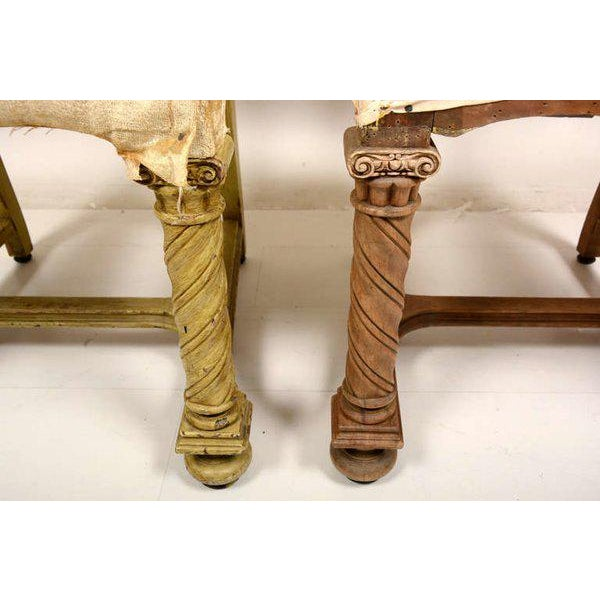 Pair of Antique Hand-Carved Chairs - Image 4 of 8