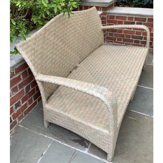 2000 - 2009 Brown Jordan Havana Seagrass Loveseat For Sale - Image 5 of 7