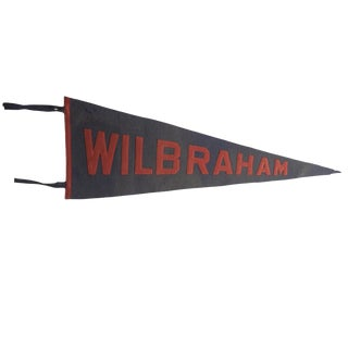 Antique Wilbraham Academy Felt Flag Pennant