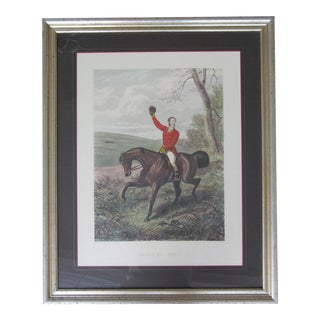 """Tally Ho"" Equestrian Hunt Print Framed For Sale"