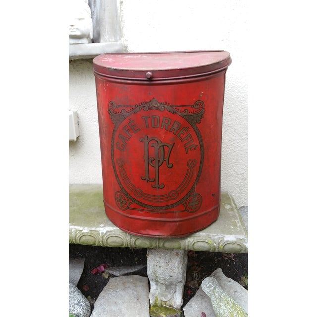 19th Century French Cafe Tin Hamper - Image 3 of 8
