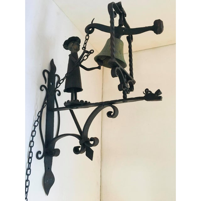 Metal Handmade Figural Door Bell For Sale - Image 7 of 9