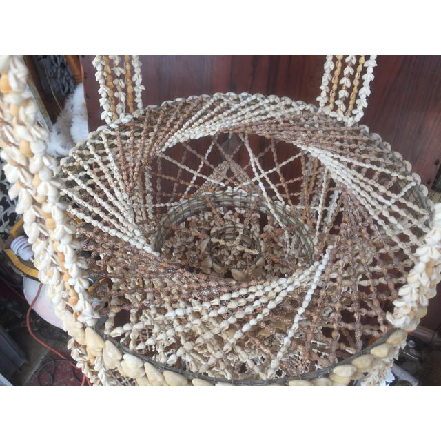 Vintage Hanging Shell Planter - Image 6 of 6