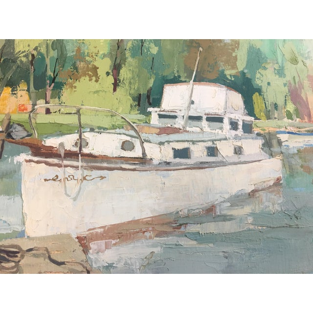 Stefan Lokos Boat At the Marina Painting - Image 8 of 11