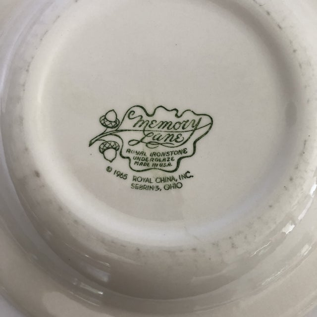 Ceramic 1960's Royal Ironstone Red Transfer Ware Soup Bowls S/5 For Sale - Image 7 of 8