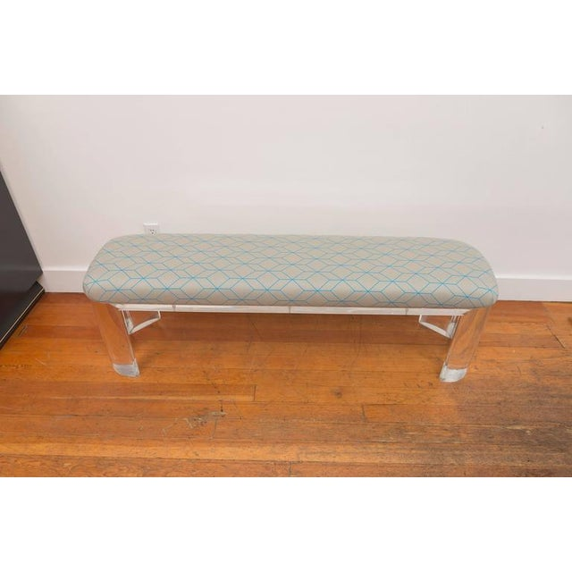 Lucite Karl Springer Style Lucite Bench For Sale - Image 7 of 8