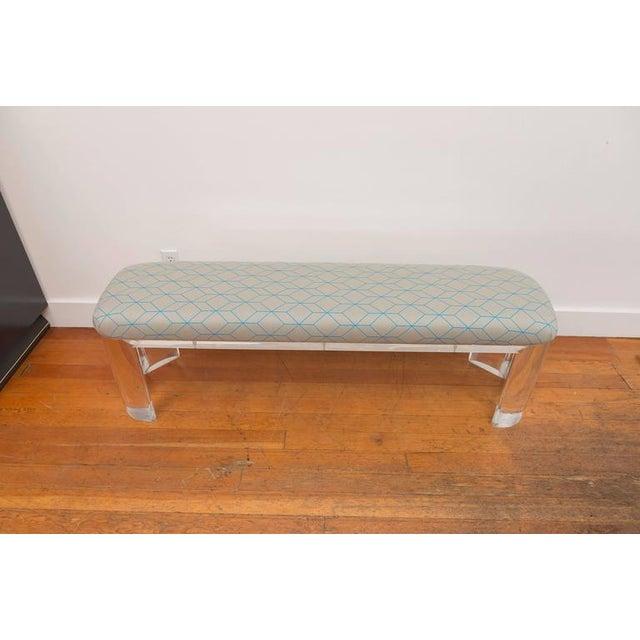 Karl Springer Style Lucite Bench - Image 7 of 8