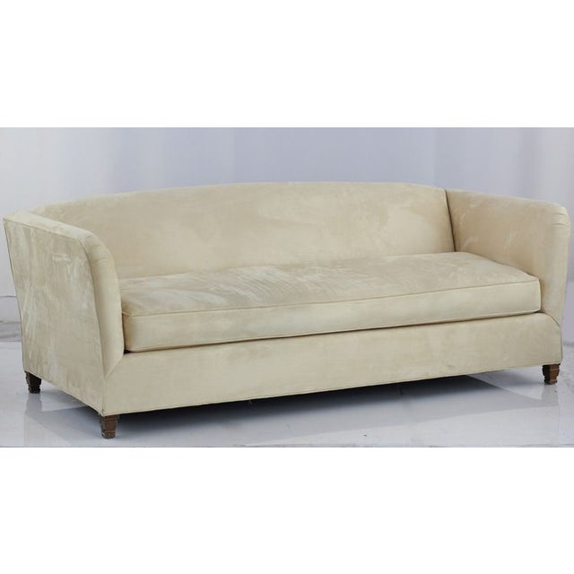 The immaculate lines of this single cushion micro fiber sofa are sure to subtly compliment any living room. Accessorize...