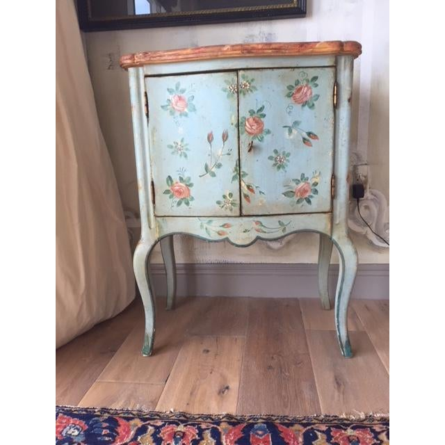 Vintage Comodino Rustic Floral Side Table For Sale - Image 10 of 10