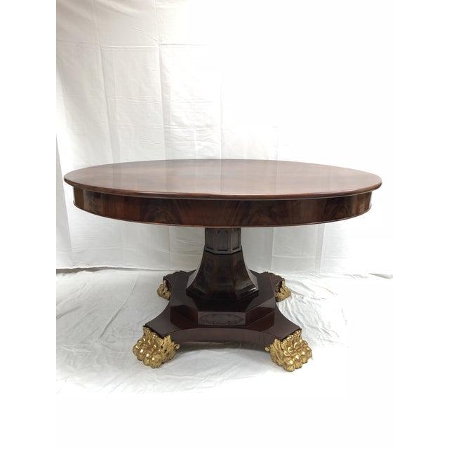Early 19th Century 19th Century English Regency Mahogany Oval Table For Sale - Image 5 of 5