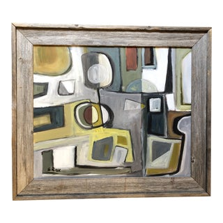 Original Stewart Ross Modernist Abstract Painting For Sale