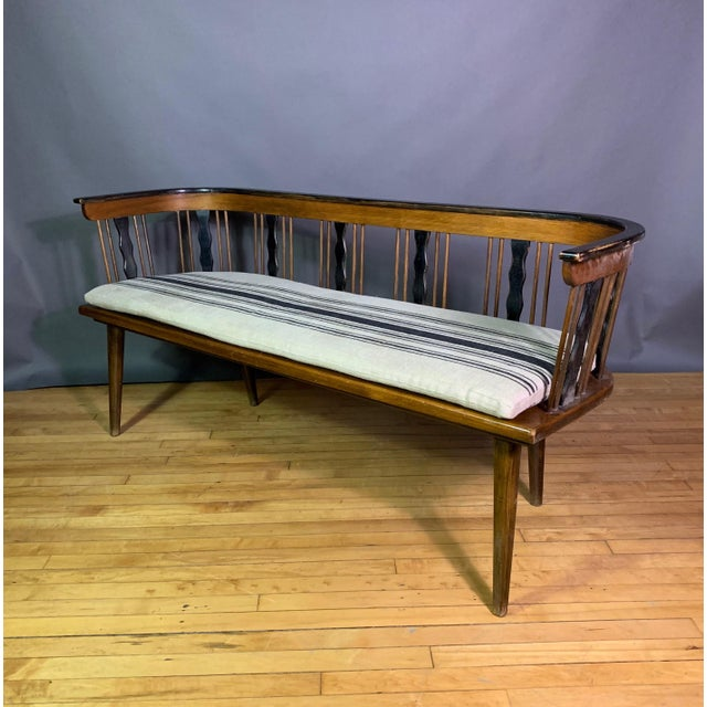 Swedish 1950s Småland Long Bench in Solid Pine For Sale - Image 11 of 11