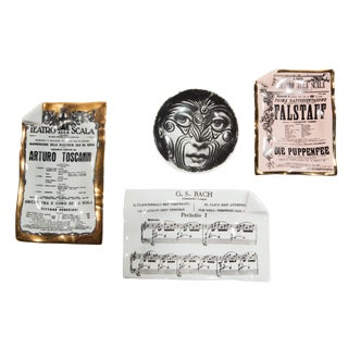 Collection of Four Objects by Piero Fornasetti, Circa 1960s For Sale