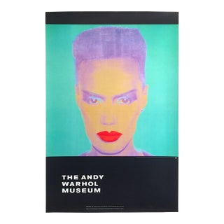 "Andy Warhol Museum Rare Lmtd Edtn Lithograph Print Monumental Pop Art Poster "" Grace Jones "" 1986 For Sale"