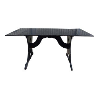 1930's Rancho Monterey Trestle Table with 2 Leaves For Sale