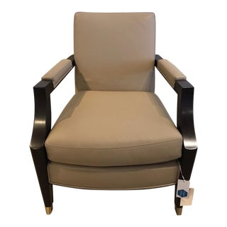 William Switzer Hms Queen Elizabeth Salon Chair in Garrett Leather For Sale