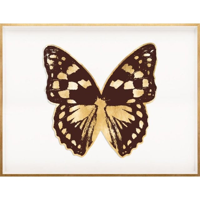 Contemporary Butterfly Royale, Brown 1 Framed Artwork For Sale - Image 3 of 3