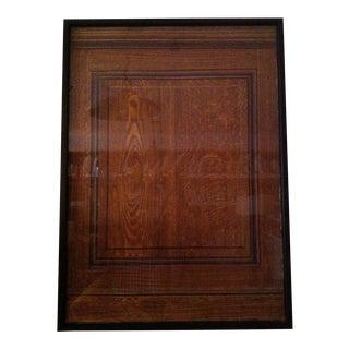 Framed Faux Bois Finish Sample For Sale
