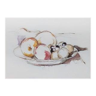 """1950s Paul Cézanne """"Fruits Still Life"""", Large Vintage Lithograph For Sale"""