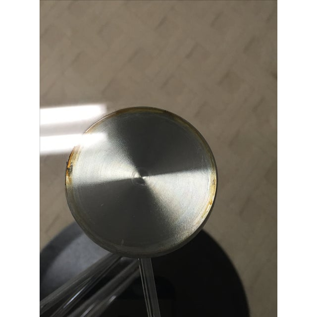 Italian Glass & Chrome Round Table For Sale - Image 7 of 8