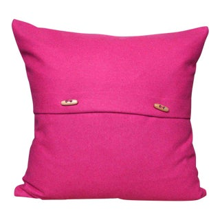 FirmaMenta Italian Eco-Friendly Pink Wool Pillow For Sale
