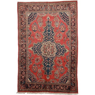 RugsinDallas Vintage Hand Knotted Persian Mahal Rug - 6′10″ × 10′5″ For Sale