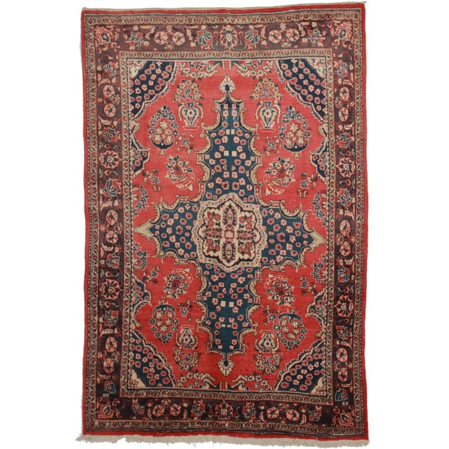 RugsinDallas Vintage Hand Knotted Persian Mahal Rug - 6′10″ × 10′5″ - Image 1 of 2