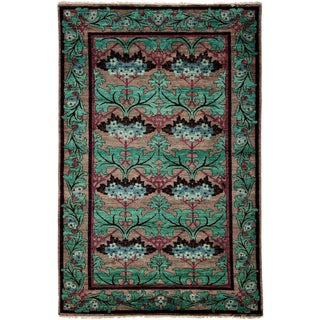 "Arts & Crafts Hand Knotted Area Rug - 4'10"" X 7'8"" For Sale"