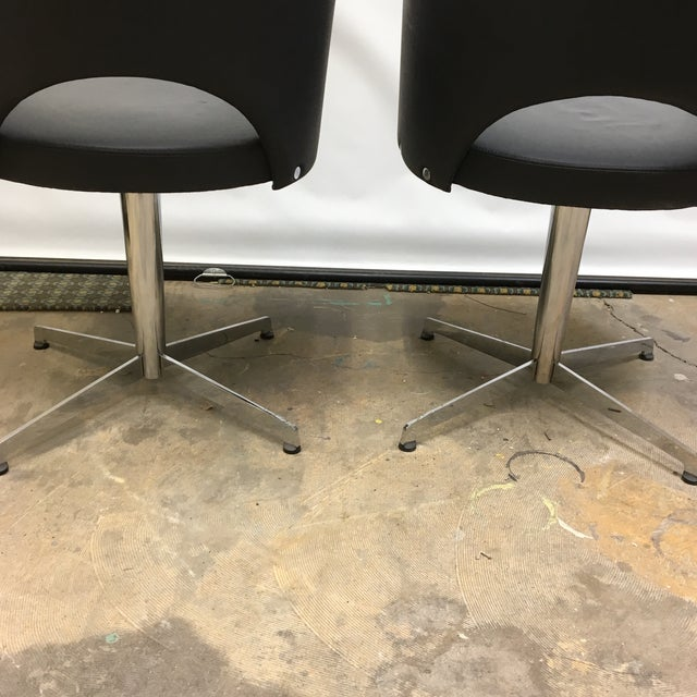 Metal ICF Group Mid-Century Style Swivel Chairs - a Pair For Sale - Image 7 of 10