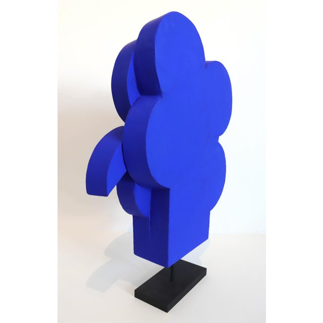 """Abstract Abstract Ultramarine Blue Geometric Cubism Sculpture by Billy Criswell """"Hercules"""" For Sale - Image 3 of 7"""