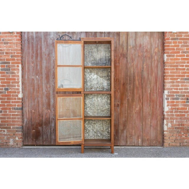 Tall 19th Century British Colonial Glass Cabinet For Sale - Image 9 of 13