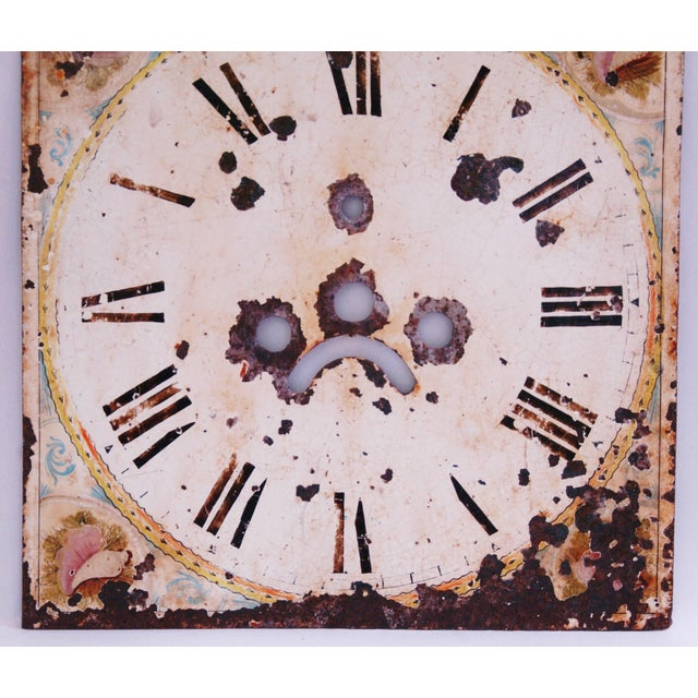 Antique Hand-Painted English Clock Face - Image 5 of 8