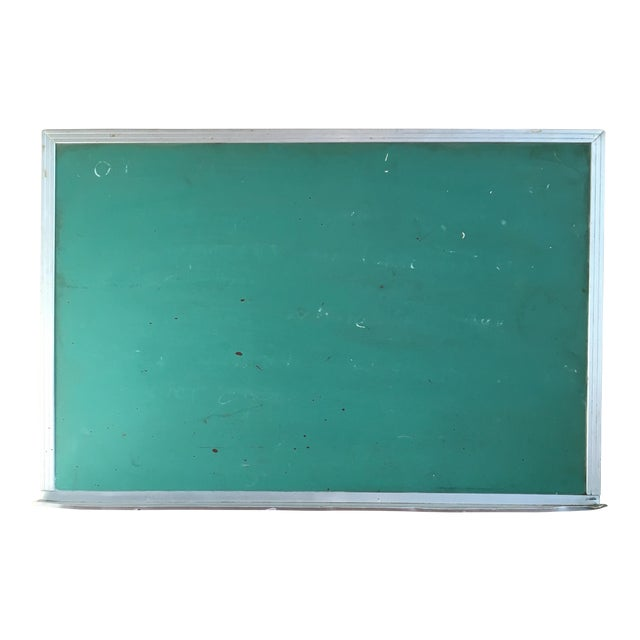 Vintage Green Wall Mounted Chalkboard - Image 1 of 6